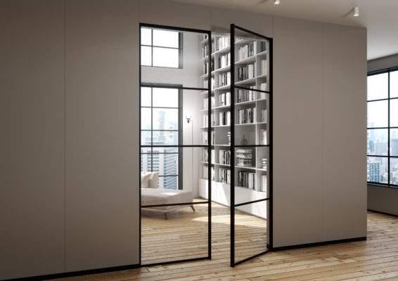 Loftowe drzwi szklane