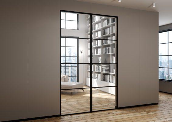 Drzwi loftowe szklane